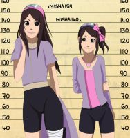 CM: Misha Height Chart by Chloeeh