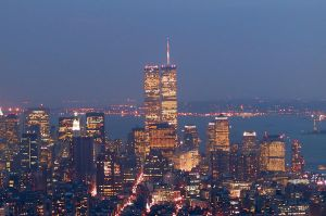 NYC Twin Towers at Night by DGJ13