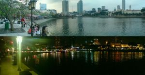 Singapore River Day and Night by Joslau-Designs