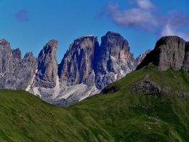 Soft meadows, hard mountains by edelweiss26