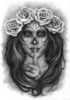 Day Of The Dead Shh by Zindy