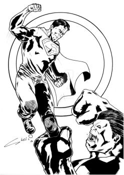 superman new 52 vs red hulk by robertcheli
