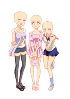 Three girls base x by xXxYukihimebearxXx