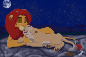 Simba and Nala by icefyrefox