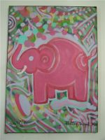 shhh... Pink elephant by beatrixxx