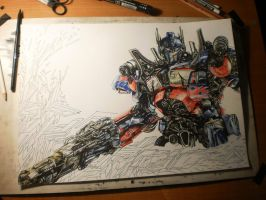 optimus prime in graffiti by KondaArt