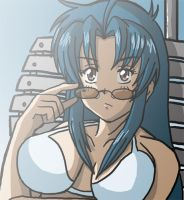 Kaname at the pool by DKLreviews