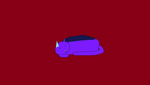 Purple blue cat by Mike-the-dabbler
