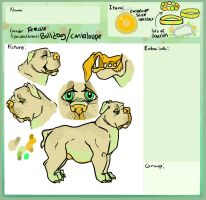 Cantaloupe pup adoptable by WolfSoul101