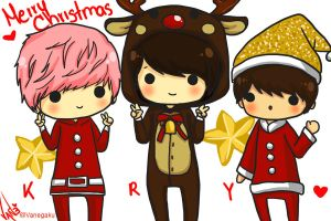 Super Junior KRY Merry Christmas by naruvane-san