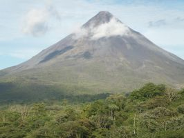 volcano in Costa Rica by indigodeep