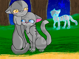 Graystripe X Millie [Fanart] by Raining-Rose