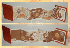 Concertina Book - Mr Moon and Mrs Sun by Miss-Belfry