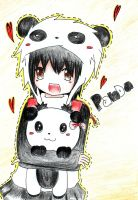 Panda with Panda by Gus-1993