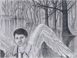 Castiel, Deep in thought. by Jupiter-Moonchild
