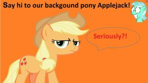 Wallpaper backgound pony Applejack by Barrfind