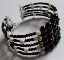 threaded monochrome cuff by MadDani