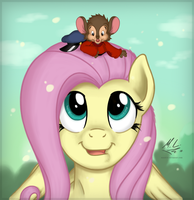 Fluttershy and Fievel Mousekewitz by Maxl654