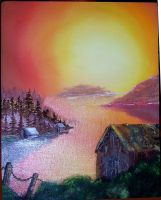 First Oil Painting by LadyReaderofBooks