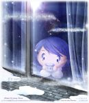 Behind the window Observing the snow flake by Kauthar-Sharbini