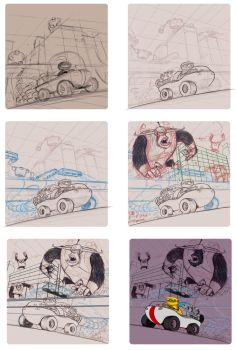 Roughs for Gorilla attack by Petewoo
