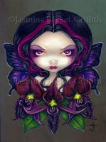Black Orchid Fairy by jasminetoad