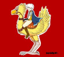Prussia and his Chocobo by Moyashimochi