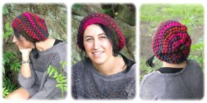 Multicoloured slouch hat by MademoiselleOrtie