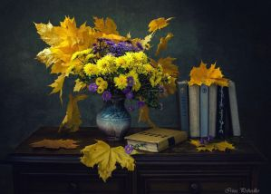 From a series of Autumn on the dresser with books by Daykiney
