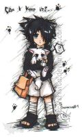 Sasuke and pup for ChosenWolf by Shivita