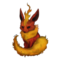Commission - Flareon by sinner-moon