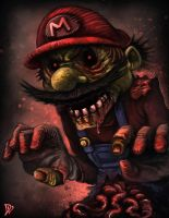 Zombie Mario by dlincoln83