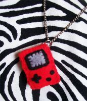 Red Gameboy Necklace by youtastelikecookies