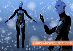 Mass Effect 3 - Asari Dancer Retexture for XPS by KurauAmami