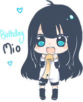 Happy Birthday Mio by Hannun