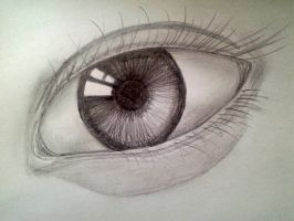 Left eye (pencil drawing) by sharayanan