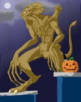 pumpkinhead walks by Skyegojira