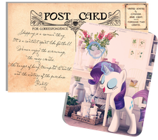 Pony Postcard - Rarity by selinmarsou