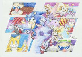 Sonic Rush 10th Anniversary by tabiki999