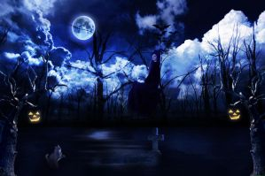 Full-moon witch-in-night by deepjaat1