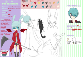 OC Yui Yukishiro Reference Sheet by chuguri