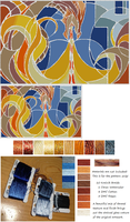 Shards of Fire Xstitch Patterns (EuclidsTriangle) by pinkythepink
