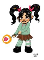 Vanellope twins tails by Bobibel