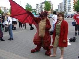 Desucon 2014: Bibo and Smaug by cynderfan35