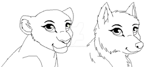 Icon Style: Lion and Wolf by ScottishRedWolf