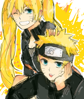 naruto and naruko uzumaki by CherryBlossom2803