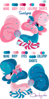 Character Street: Sweetypop and Candycake by Sellyinwonderland
