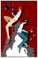 Death Note Poster KIRA and L by Creative2Bit