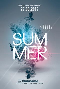 Summer Party | 4 Flyers Templates by RomeCreation
