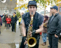 2014 Honk Festival, Chaotic Noise Up Close 11 by Miss-Tbones